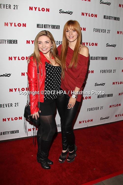 LOS ANGELES - OCT 15:  Bella Thorne arrives at  Nylon's October IT Issue party at London West Hollywood on October 15, 2012 in Los Angeles, CA
