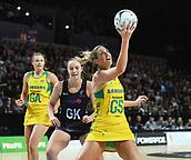 5th October 2017, Spark Arena, Auckland, New Zealand; Constellation Cup, New Zealand Silver Ferns versus Australia Diamonds;   Australia's Caitin Bassett