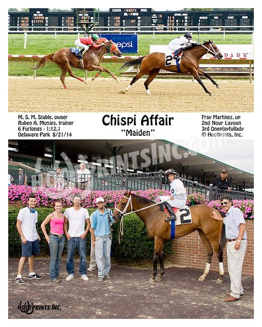 Chispi Affair winning at Delaware Park on 8/21/14