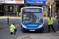 2016 09 23 Bus RTC in Newport, Wales, UK