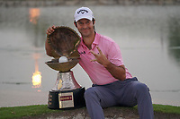 Jorge Campillo (ESP) poses with the trophy after the final round of the Commercial Bank Qatar Masters 2020, Education City Golf Club , Doha, Qatar. 08/03/2020<br /> Picture: Golffile | Phil Inglis<br /> <br /> <br /> All photo usage must carry mandatory copyright credit (© Golffile | Phil Inglis)