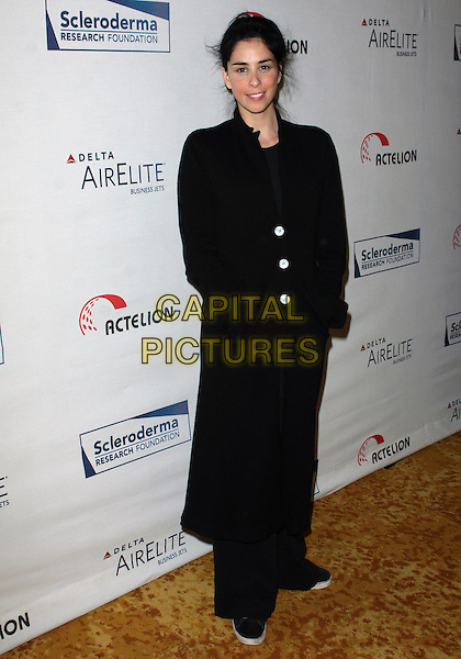 "SARAH SILVERMAN.Scleroderma Research Foundation's ""Cool Comedy - Hot Cuisine""  held at The Four Seasons Beverly Wilshire Hotel, Beverly Hills, California, USA..May 25th, 2010.full length long black coat .CAP/ADM/TC.©T. Conrad/AdMedia/Capital Pictures."