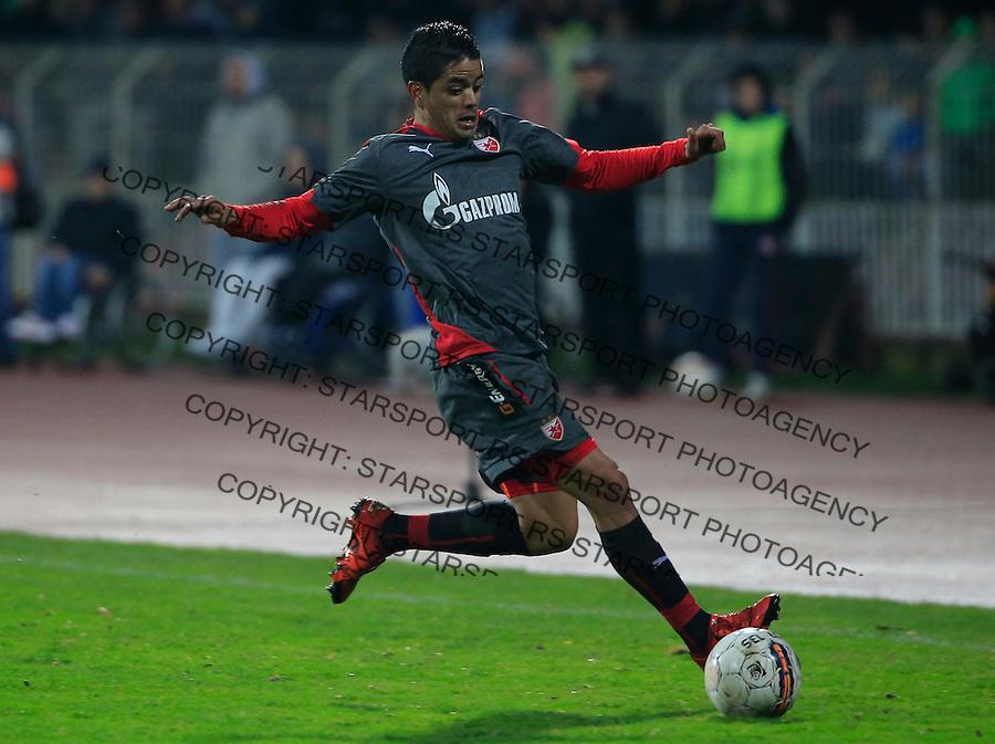 Fudbal Jelen Super League season 2015-2016<br /> Radnicki Nis v Crvena Zvezda<br /> Luis Ibanez<br /> Nis, 22.11.2015.<br /> foto: Srdjan Stevanovic/Starsportphoto&copy;