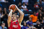 7th September 2017, Fenerbahce Arena, Istanbul, Turkey; FIBA Eurobasket Group D; Belgium versus Serbia; Dragan Milosavljevic of Serbia shoots for three points during the match