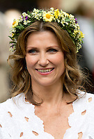 TRONDHEIM, NORWAY - JUNE 23:  Princess Martha Louise of Norway attenda a Garden Party at the Royal Residence, Stiftsgarden,  on a visit to Trondheim, during the King and Queen of Norway's Silver Jubilee Tour, on June 23, 2016 in Trondheim, Norway.