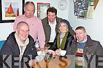 COMHRÁ: Enjoying one of the new countywide Irish speaking gatherings at the Caife Beag in Milltown last Thursday night were ó clé: Reamonn Ó Nualláin, Bearnárd Ó Cróinín, Seán de Buitléar, Martina Uí hÓdhrán, Dónal Ó Codlata.