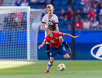PARIS,  - JUNE 16: Daniela Zamora #20 is fouled by Tierna Davidson #12 during a game between Chile and USWNT at Parc des Princes on June 16, 2019 in Paris, France.