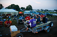 Aug 19, 2017; Brainerd, MN, USA; General view of fans in the Brainerd International Raceway camping area referred to as The Zoo following NHRA qualifying for the Lucas Oil Nationals. Mandatory Credit: Mark J. Rebilas-USA TODAY Sports