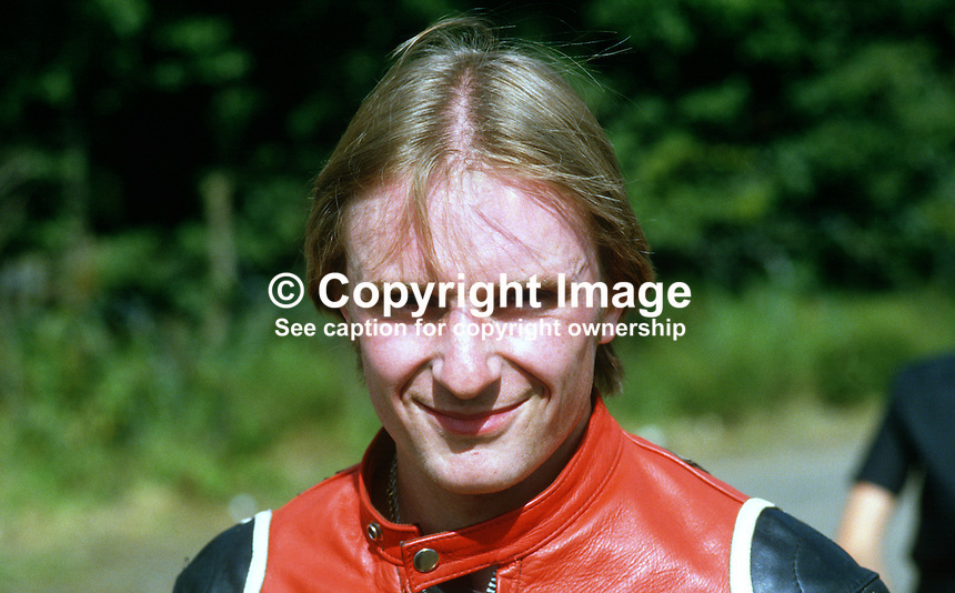 Brian Reid, Banbridge, N Ireland, UK, racing motorcylist, 19840101BR..Copyright Image from Victor Patterson, 54 Dorchester Park, Belfast, UK, BT9 6RJ..Tel: +44 28 9066 1296.Mob: +44 7802 353836.Voicemail +44 20 8816 7153.Skype: victorpattersonbelfast.Email: victorpatterson@me.com.Email: victorpatterson@ireland.com (back-up)..IMPORTANT: If you wish to use this image or any other of my images please go to www.victorpatterson.com and click on the Terms & Conditions. Then contact me by email or phone with the reference number(s) of the image(s) concerned.