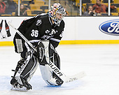 Alex Beaudry (PC - 35) - The Boston College Eagles defeated the Providence College Friars 4-2 in their Hockey East semi-final on Friday, March 16, 2012, at TD Garden in Boston, Massachusetts.