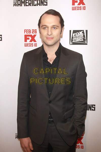 NEW YORK, NY - FEBRUARY 24: Matthew Rhys at  'The Americans' season 2 premiere at the Paris Theater on February 24, 2013 in New York City, NY., USA.<br /> CAP/MPI/RW<br /> &copy;RW/ MediaPunch/Capital Pictures