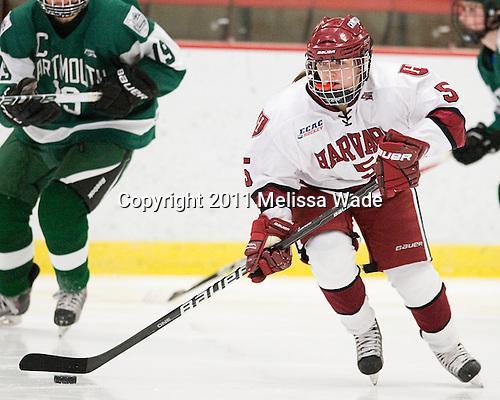Kelsey Romatoski (Harvard - 5) - The visiting Dartmouth College Big Green defeated the Harvard University Crimson 3-2 on Wednesday, November 23, 2011, at Bright Hockey Center in Cambridge, Massachusetts.