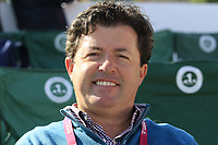 Shane O'Donoghue relaxing at the 1st tee during Thursday's Round 1 of The Evian Championship 2018, held at the Evian Resort Golf Club, Evian-les-Bains, France. 13th September 2018.<br /> Picture: Eoin Clarke | Golffile<br /> <br /> <br /> All photos usage must carry mandatory copyright credit (© Golffile | Eoin Clarke)