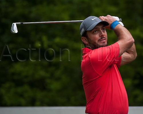 23.05.2015. Wentworth, England. BMW PGA Golf Championship. Round 3.  Francesco Molinari [ITA] 5th tee, during the third round of the 2015 BMW PGA Championship from The West Course Wentworth Golf Club