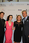 Charlie White - Meryl Davis - Tina and Terry Lundgren - The 11th Annual Skating with the Stars Gala - a benefit gala for Figure Skating in Harlem - honoring Meryl Davis & Charlie White (Olympic Ice Dance Champions and Meryl winner on Dancing with the Stars) and presented award by Tamron Hall on April 11, 2016 on Park Avenue in New York City, New York with many Olympic Skaters and Celebrities. (Photo by Sue Coflin/Max Photos)