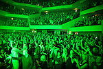 "© Joel Goodman - 07973 332324 . 05/02/2016 . Manchester , UK . Crowd . "" Hacienda Classical "" debut at the Bridgewater Hall . The 70 piece Manchester Camerata and performers including New Order's Peter Hook , Shaun Ryder , Rowetta Idah , Bez and Hacienda DJs Graeme Park and Mike Pickering mixing live compositions . Photo credit : Joel Goodman"