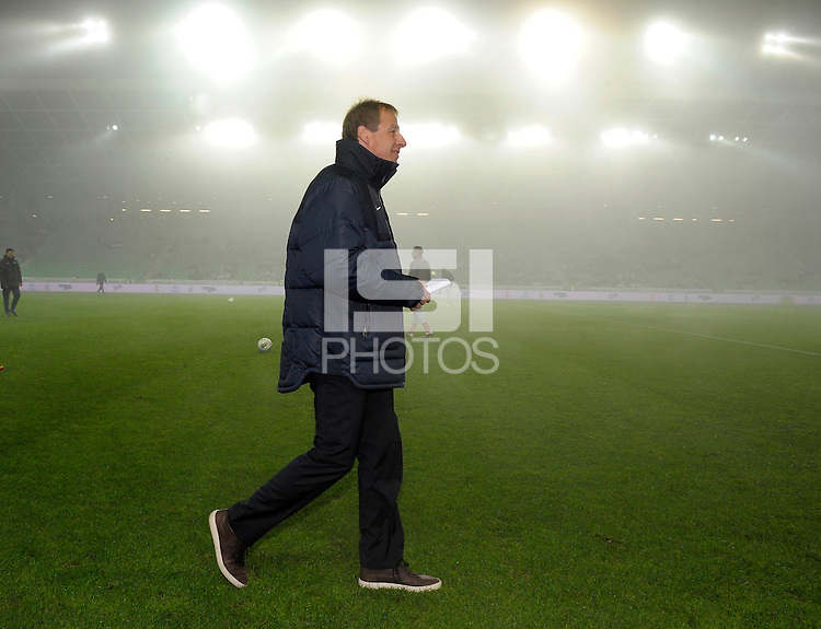 Jurgen Klinsmann, coach of team USA, short bofore the friendly match Slovenia against USA at the Stozice Stadium in Ljubljana, Slovenia on November 15th, 2011.