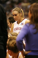 SAN ANTONIO, TX - APRIL 4:  Joslyn Tinkle of the Stanford Cardinal during Stanford's 73-66 win over Oklahoma in the Final Four semi-finals at the Alamo Dome on April 4, 2010 in San Antonio, Texas.