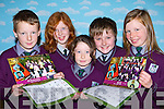 Students from Gaelscoil Faithleann, Killarney with the 2009 calender they have produced l-r: Murt O?'Se?, Elena Ni? Dhaibhi?, Chelsea Ni? Chofaigh, Liam O?'Muiris and Sorcha de Bhi?li?s   Copyright Kerry's Eye 2008