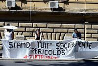 Roma, 13 Agosto 2017<br /> Presidio davanti il carcere di Regina Coeli per chiedere la liberazione delle 11 persone arrestate durante lo sgombero del palazzo occupato in Via Quintavalle avvenuto il 10 agosto