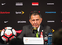 Pasadena, CA - Thursday June 09, 2016: Mexico Head Coach Juan Carlos Osorio during a Copa America Centenario Group C match between Mexico (MEX) and Jamaica (JAM) at Rose Bowl Stadium.