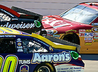 Close action during the Aaron's 499 at Talladega Superspeedway, Talladega, AL, April 17, 2011.  (Photo by Brian Cleary/www.bcpix.com)