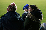 Pickering fans. Stocksbridge Park Steels v Pickering Town,  Evo-Stik East Division, 17th November 2018. Stocksbridge Park Steels were born from the works team of the local British Steel plant that dominates the town north of Sheffield.<br />