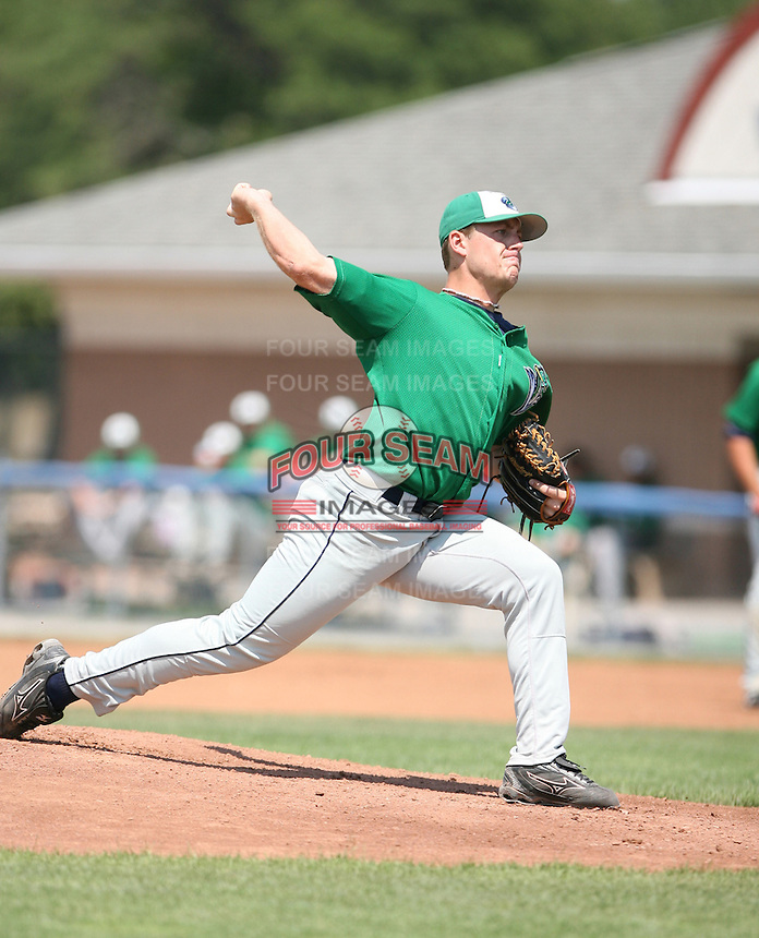 2007:  Jordan Zimmermann of the Vermont Lake Monsters, Class-A affiliate of the Washington Nationals, during the New York-Penn League baseball season.  Photo by Mike Janes/Four Seam Images