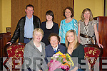 LUNCH: The Family of Sheila Carmody, Knocknagoshel who brought her to a special lunch in the Grand Hotel, Tralee on Sunday to mark her 96th birthday. Front l-r: Marie Carmody, Sheila Carmody(birthday lady) and Mairead Kennedy. Back l-r: Ned,Julie and Bridie Carmody and Anna Kennedy.   ................................................................... ........