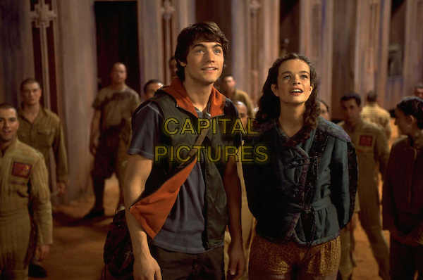 KATIE CARR & TYRON LEITSO.in Dinotopia .Story of A Lost Continent Where Dinosaurs And Humans Live Together.Filmstill - Editorial Use Only.Ref: FB.www.capitalpictures.com.sales@capitalpictures.com.Supplied by Capital Pictures