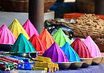 Incense and color shop  at  Devaraja Market in Mysore