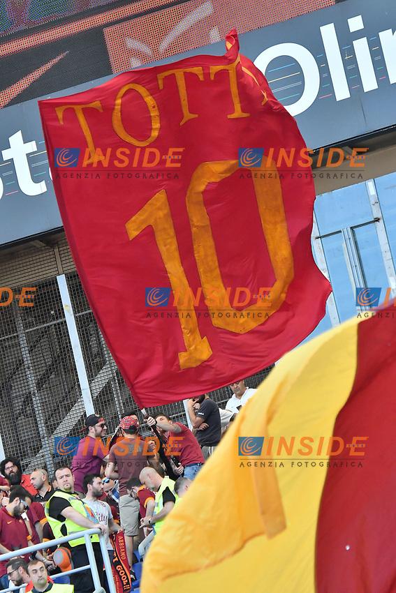 Flag Totti Bandiera <br /> Roma 28-05-2017 Stadio Olimpico Football Calcio Serie A 2016/2017 AS Roma - Genoa  Foto Andrea Staccioli / Insidefoto