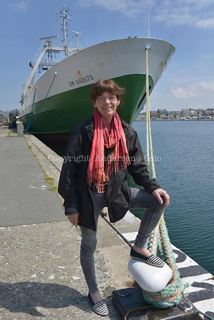 Catherine Poulain, French writer in Saint Malo, France.<br />Prix Nicolas Bouvier 2016<br />Prix Joseph Kessel 2016<br />Prix des gens de mer 2016<br />Prix des Compagnies de p&ecirc;ches 2016