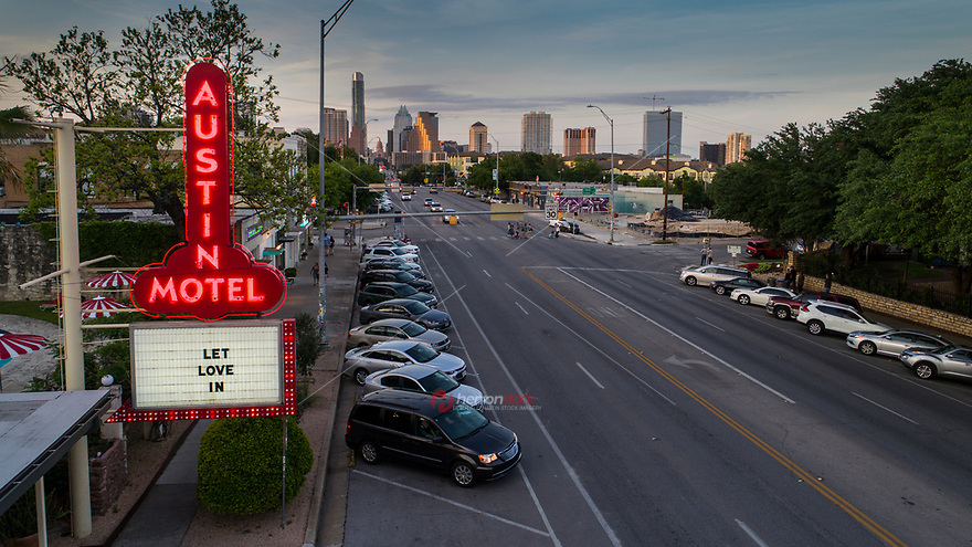 The Austin Motel, a retro 1930s motel is a great example of the continued rejuvenation of the historic South Congress Avenue, which lies just south of Lady Bird Lake.