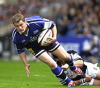 26/05/2002.Sport -Rugby Union - Parker Pen Shield Final.Sale vs Pontypridd..Mark Cueto   [Mandatory Credit, Peter Spurier/ Intersport Images].