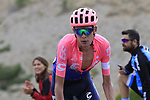 Hugh John Carthy (GBR) EF Education First on the final Cat 1 climb up to Observatorio Astrofisico de Javalambre during Stage 5 of La Vuelta 2019 running 170.7km from L'Eliana to Observatorio Astrofisico de Javalambre, Spain. 28th August 2019.<br /> Picture: Eoin Clarke | Cyclefile<br /> <br /> All photos usage must carry mandatory copyright credit (© Cyclefile | Eoin Clarke)