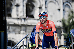 Vincenzo Nibali (ITA) Bahrain-Merida at sign on before the start of Stage 16 of the 2019 Tour de France running 177km from Nimes to Nimes, France. 23rd July 2019.<br /> Picture: ASO/Pauline Ballet | Cyclefile<br /> All photos usage must carry mandatory copyright credit (© Cyclefile | ASO/Pauline Ballet)
