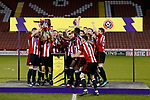 Sheffield Utd lift the u18's trophy during the Professional Development League play-off final match at Bramall Lane Stadium, Sheffield. Picture date: May 10th 2017. Pic credit should read: Simon Bellis/Sportimage