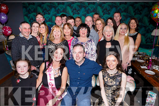 Elaine Lehane of Connolly Park celebrating her 40th birthday in the Ashe Hotel with family and friends on Saturday night last.    <br /> L-r, Nicola, Elaine, Eric, Chloe Lehane.