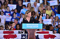 CORAL SPRINGS, FL - SEPTEMBER 30: Rep Debbie Wasserman Schultz (D-FL) speaks before the arrival of Democratic presidential candidate Hillary Clinton campaign rally at Coral Springs Gymnasium on September 30, 2016 in Coral Springs, Florida. Clinton continues to campaign against her Republican opponent Donald Trump before election day on November 8th.  Credit: MPI10 / MediaPunch