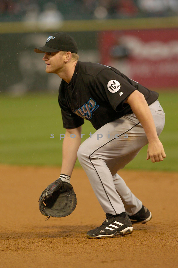 Lyle Overbay, of the Toronto Blue Jay, during their game against the Chicago White Sox on  April 16, 2006 in Chicago...Sox win 6-4..David Durochik / SportPics