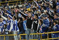 BOGOTÁ -COLOMBIA, 31-08-2013. Aspecto del encuentro entre Millonarios y Atletico Huila válido  por la fecha 8 de la Liga Postobon II 2013 disputado en el estadio el Campín de la ciudad de Bogotá./ Aspect of match between Millonarios and Atletico Huila valid for the 8th date of the Postobon League II 2013 played at El Campin stadium in Bogotá city. Photo: VizzorImage/Gabriel Aponte/STR