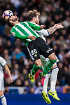 German Pezzella (l) of Real Betis battles for the ball with Sergio Ramos of Real Madrid during their La Liga match between Real Madrid and Real Betis at the Santiago Bernabeu Stadium on 12 March 2017 in Madrid, Spain. Photo by Diego Gonzalez Souto / Power Sport Images