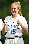Duke's Sarah McCabe on Sunday September 17th, 2006 at Koskinen Stadium on the campus of the Duke University in Durham, North Carolina. The Duke Blue Devils and Marquette Golden Eagles tied 1-1 after overtime in an NCAA Division I Women's Soccer game.