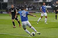 goal, Tor zum 1:0 für Dario Dumic (SV Darmstadt 98) - 04.10.2019: SV Darmstadt 98 vs. Karlsruher SC, Stadion am Boellenfalltor, 2. Bundesliga<br /> <br /> DISCLAIMER: <br /> DFL regulations prohibit any use of photographs as image sequences and/or quasi-video.