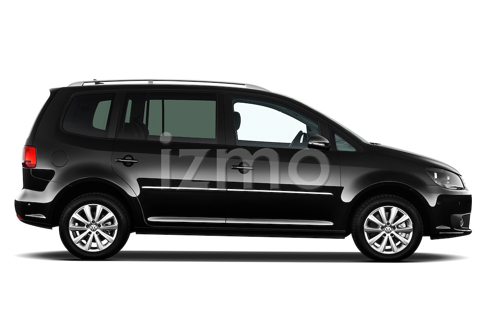 Passenger side profile view of a 2010 Volkswagen Touran Highline 5 Door Mini MPV.