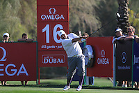 Joel Sjoholm (SWE) tees off on the 16th tee during Sunday's Final Round of the 2012 Omega Dubai Desert Classic at Emirates Golf Club Majlis Course, Dubai, United Arab Emirates, 12th February 2012(Photo Eoin Clarke/www.golffile.ie)
