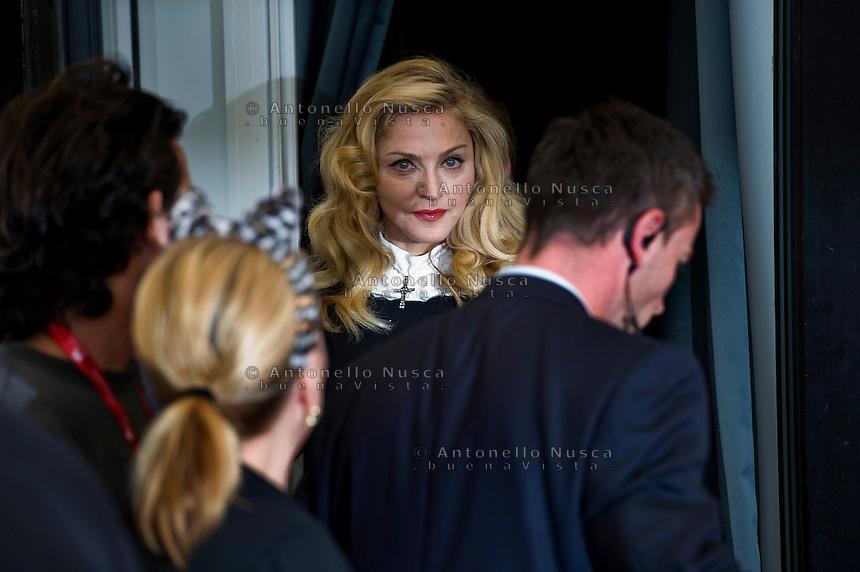 Madonna arriva al Palazzo del Cinema per il photocall del suo film 'W.E.'  al 68th Festival del cinema di Venezia
