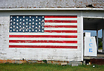 Flag painted on the side of Dave's Grocery in Lacey's Spring, AL.  Bob Gathany Photo.