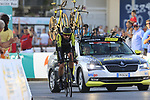 Mitchelton-Scott including Sam Bewley (NZL) in action during Stage 1 of La Vuelta 2019, a team time trial running 13.4km from Salinas de Torrevieja to Torrevieja, Spain. 24th August 2019.<br /> Picture: Eoin Clarke | Cyclefile<br /> <br /> All photos usage must carry mandatory copyright credit (© Cyclefile | Eoin Clarke)